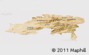 Satellite Panoramic Map of Batna, cropped outside