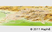 Satellite Panoramic Map of Batna, physical outside