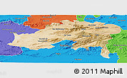 Satellite Panoramic Map of Batna, political outside