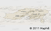Shaded Relief Panoramic Map of Batna, lighten