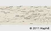 Shaded Relief Panoramic Map of Batna