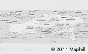 Silver Style Panoramic Map of Batna