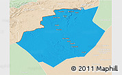 Political 3D Map of Bechar, lighten