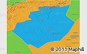 Political 3D Map of Bechar