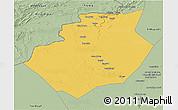Savanna Style 3D Map of Bechar