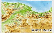 Physical 3D Map of Bejaia