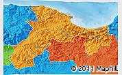 Political 3D Map of Bejaia