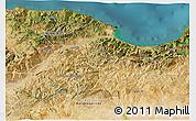 Satellite 3D Map of Bejaia