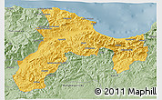 Savanna Style 3D Map of Bejaia