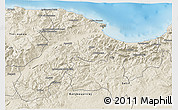 Shaded Relief 3D Map of Bejaia