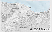 Silver Style 3D Map of Bejaia