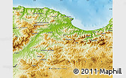 Physical Map of Bejaia