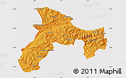 Political Map of Bejaia, cropped outside