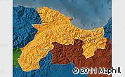 Political Map of Bejaia, darken
