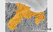 Political Map of Bejaia, desaturated