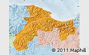 Political Map of Bejaia, lighten