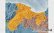 Political Map of Bejaia, semi-desaturated