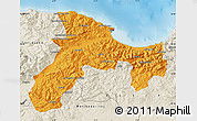 Political Map of Bejaia, shaded relief outside