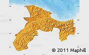 Political Map of Bejaia, single color outside