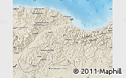 Shaded Relief Map of Bejaia