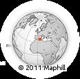 Outline Map of Bejaia