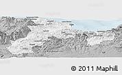 Gray Panoramic Map of Bejaia