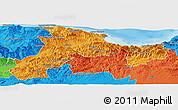 Political Panoramic Map of Bejaia