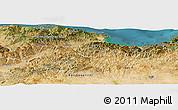 Satellite Panoramic Map of Bejaia