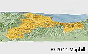 Savanna Style Panoramic Map of Bejaia