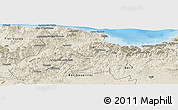 Shaded Relief Panoramic Map of Bejaia