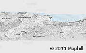 Silver Style Panoramic Map of Bejaia