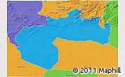 Political 3D Map of Biskra