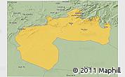 Savanna Style 3D Map of Biskra