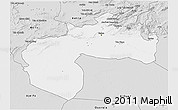 Silver Style 3D Map of Biskra