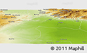 Physical Panoramic Map of Biskra