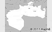 Gray Simple Map of Biskra