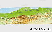 Physical Panoramic Map of Blida