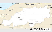 Classic Style Simple Map of Blida