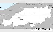 Gray Simple Map of Blida
