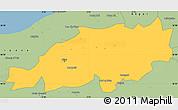 Savanna Style Simple Map of Blida