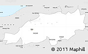 Silver Style Simple Map of Blida