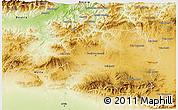 Physical 3D Map of Borjbouarirej