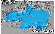 Political 3D Map of Borjbouarirej, desaturated