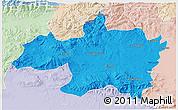 Political 3D Map of Borjbouarirej, lighten