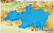 Political 3D Map of Borjbouarirej, physical outside