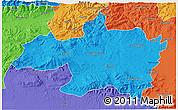 Political 3D Map of Borjbouarirej