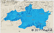 Political 3D Map of Borjbouarirej, shaded relief outside