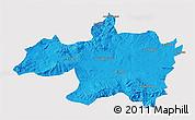 Political 3D Map of Borjbouarirej, single color outside