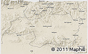 Shaded Relief 3D Map of Borjbouarirej