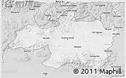 Silver Style 3D Map of Borjbouarirej
